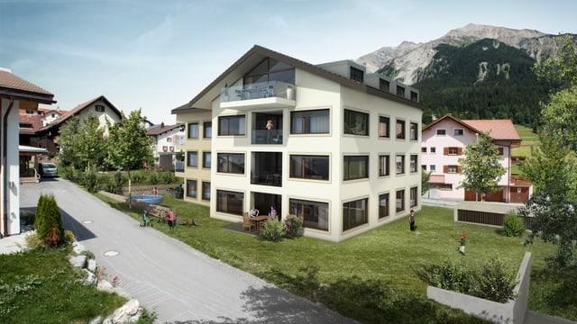 Visualisaziun chasa da pliras abitaziuns a Lantsch