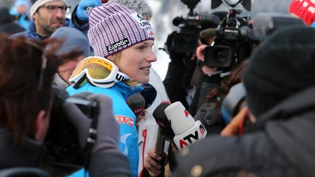 Marlies Schild gibt beim Slalom ihr Comeback.
