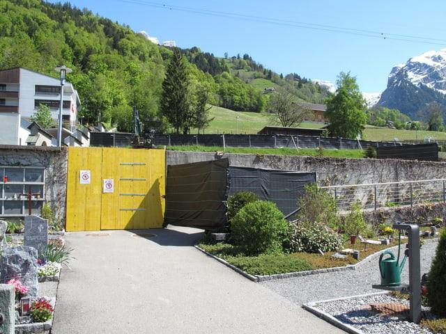 Sanierung des Friedhofes Engelberg.