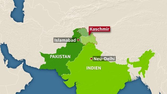 Karte von Kaschmir