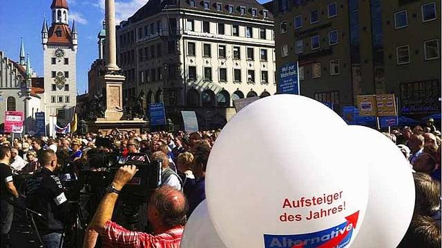 Eine Wahlveranstaltung in München