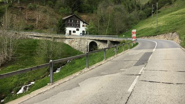 La via actuala tras la Val Mulinaun