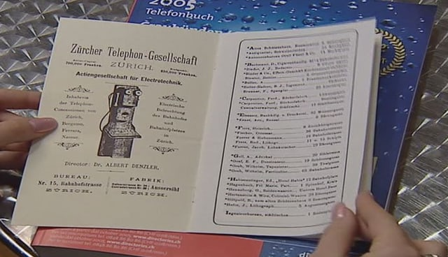 Il cudesch da telefon 1880 e 2005