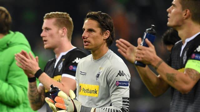 Goli Yann Sommer sblatscha suenter il gieu da Champions League, el ha sang enturn il nas.