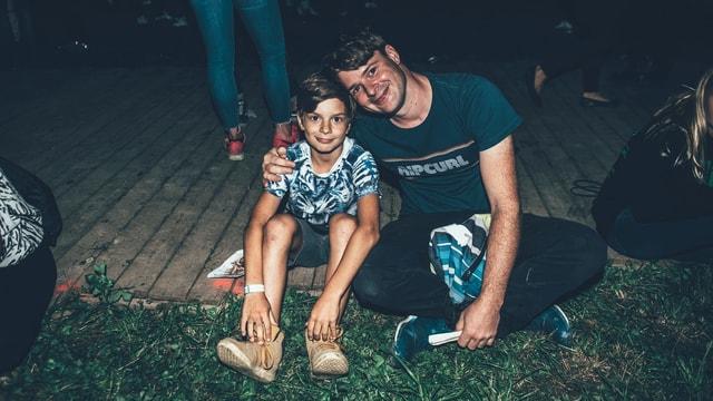 Maurizio mit Sohn Lou