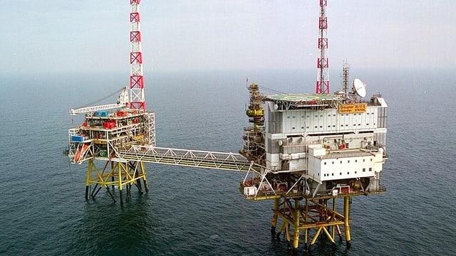 Gasförderplattform in der Nordsee