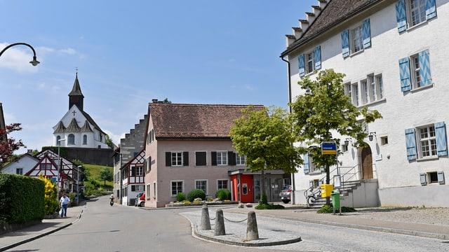 Der Ortskern von Rheinau mit seinen alten Riegelbauten.