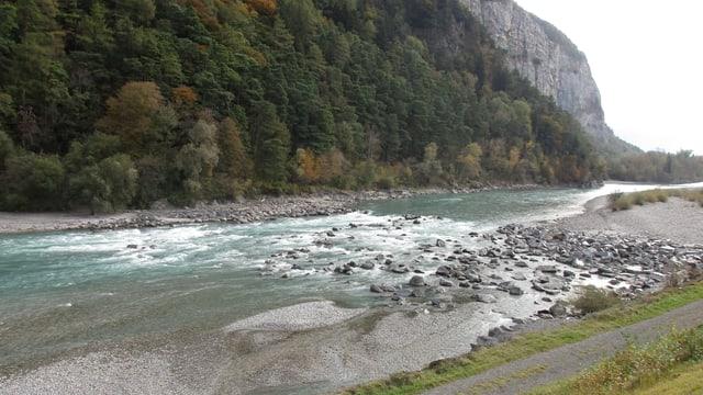Die Ellhornschwelle im Rhein