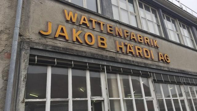 Wattenfabrik von aussen mit Schriftzug