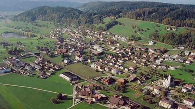 Luftbild von Egolzwil und Wauwil