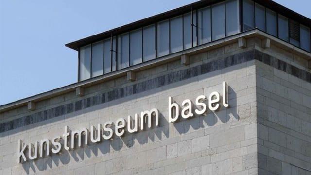 """Die Fassade mit Aufschrift """"Kunstmuseum Basel"""""""