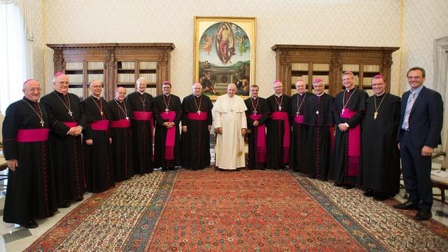 Papst Franziskus und die Schweizer Bischöfe zum Abschluss des Rom-Besuchs