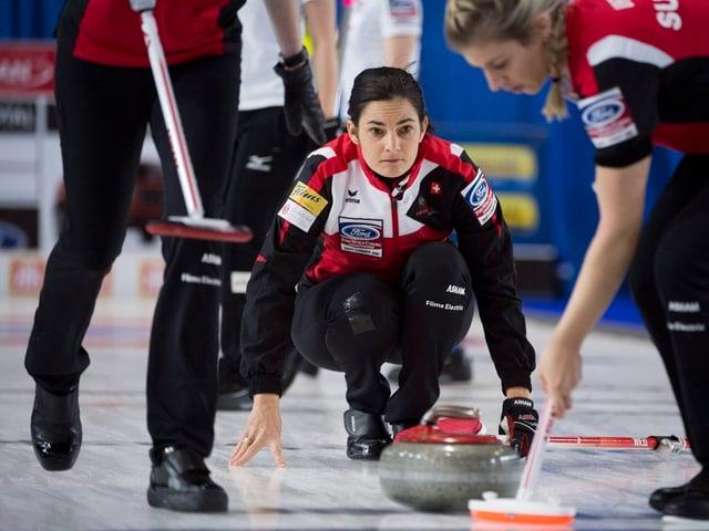 Binia Feltscher und ihr Team.