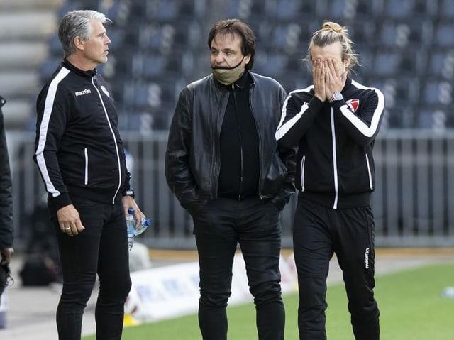 Das Führungstrio beim FC Sion