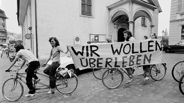Die Velo-Demonstration von 1980.