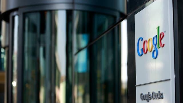 La sedia da Google a Dublin.