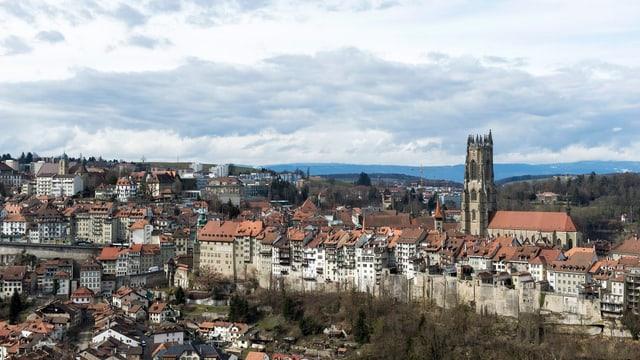 Das Bild zeigt die Stadt Freiburg.