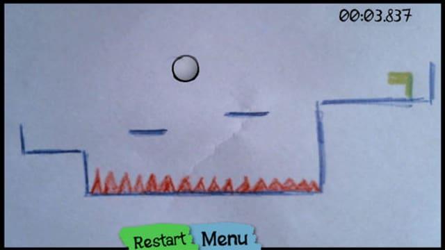 Screenshot eines mit Draw&Play gebauten Levels.