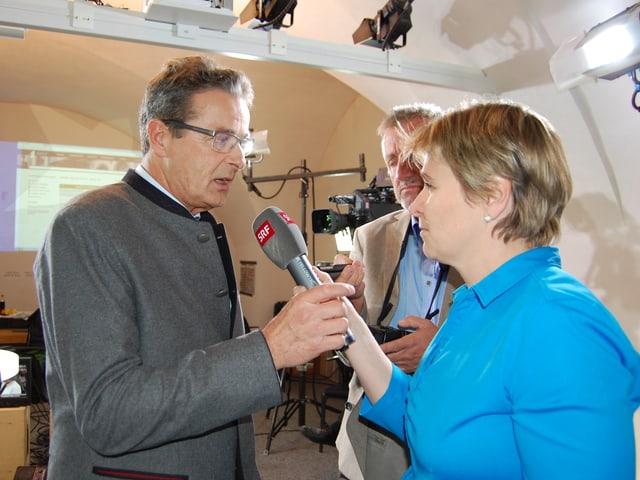 Jean-René Fournier im Gespräch mit SRF-Korrespondentin Silvia Graber.