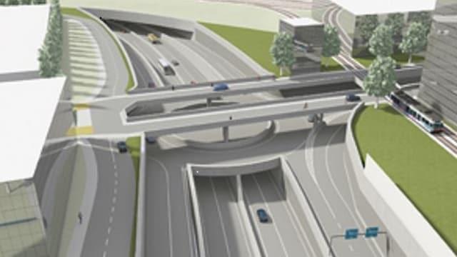 Projekt Autobahnanschluss Biel-Centre