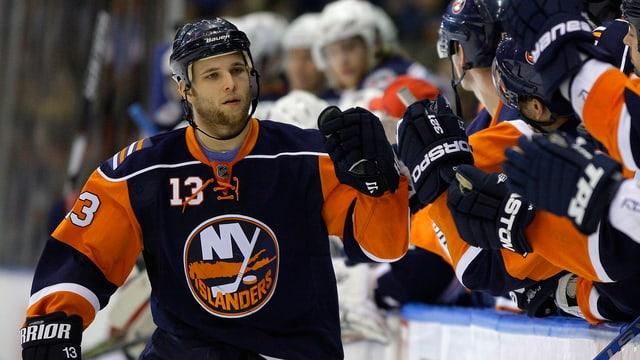Rob Schremp 2009 im Dress der New York Islanders.