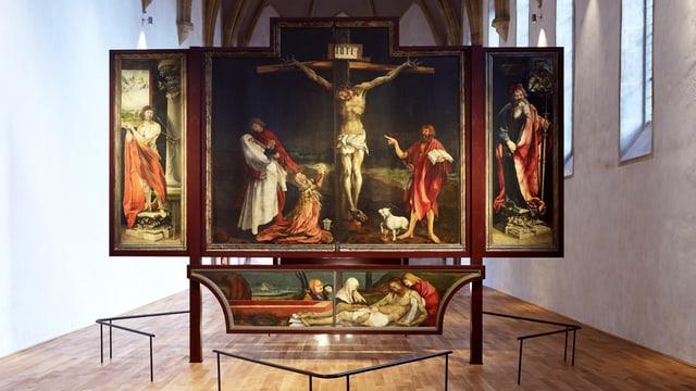 Ein Gemälde, das den gekreuzigten Jesus zeigt.