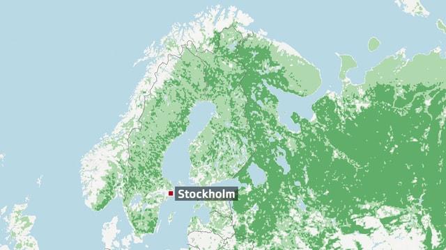 Karte Schweden.