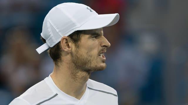 Andy Murray macht eine säuerliche Miene.