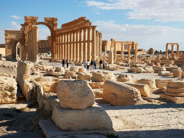 Überreste einer antiken Stadt.