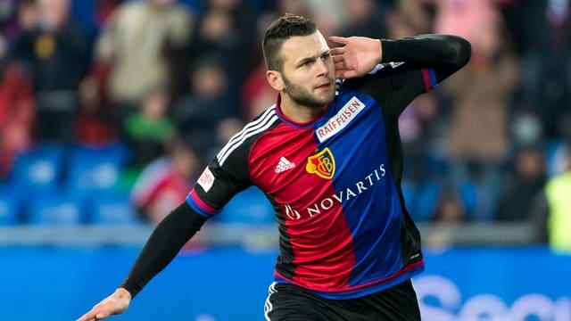 Flügelspieler Renato Steffen vom FC Basel.