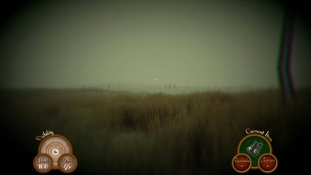 Patrouille marschiert durch das Moor.