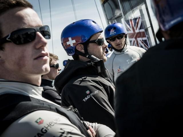Team Tilt von links nach rechts: Lionel Vaucher, Lucien Cujean, Thomas Mermod.