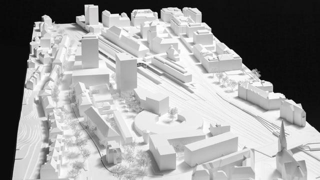 Modell eines Konzepts für eine mögliche Neugestaltung des Quartiers «Bahnhof Nord».