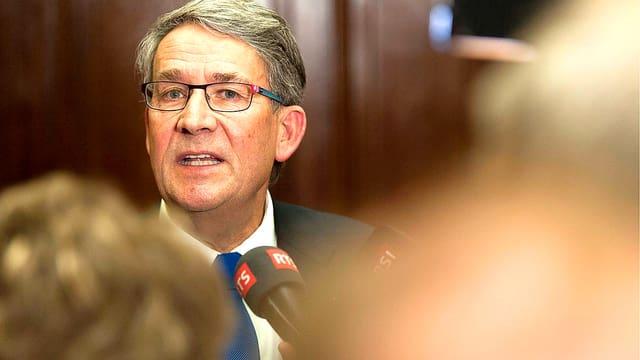 Portrait des Gesicht von CVP-Ständerat Urs Schwaller.