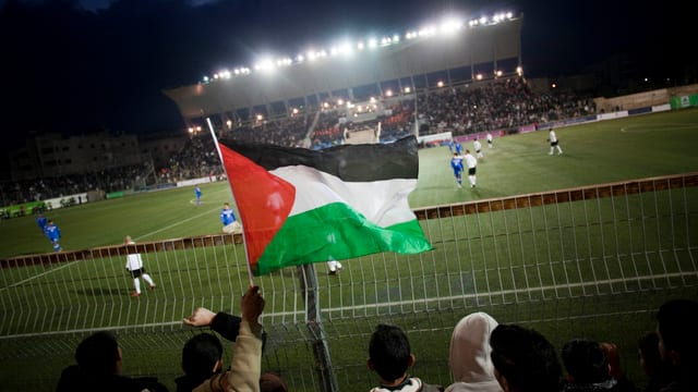 Bild aus dem Stadion in Ramallah