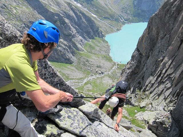 Foto von 2 Bergsteigern