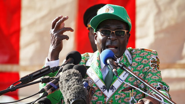 Mugabe an Rednerpult