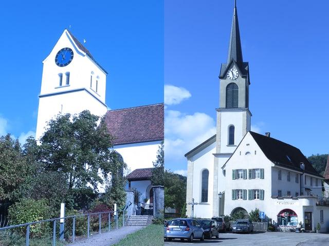 Die reformierte und die katholische Kirche.