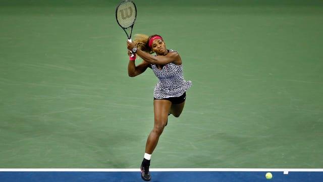Serena Williams in Aktion.
