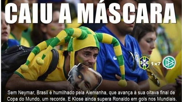 Die Maske ist gefallen - schreibt Gazeta Esportiva