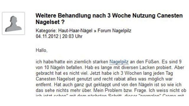 Screenshot Nagelpilzforum