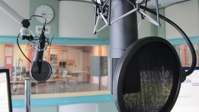 Mikrofon im SRF-Studio Aarau
