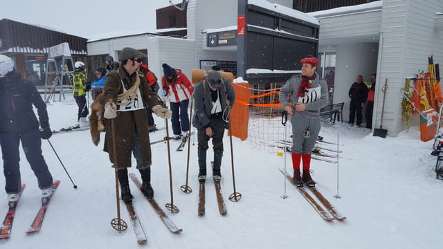 Curas da skis nostalgia a Segl
