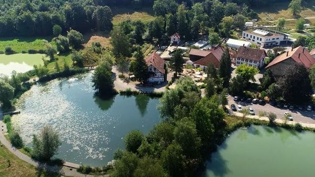 Drohnenbild Quellpark Kundelfingerhof von oben