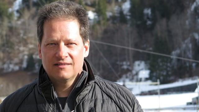 Porträt Martin Trachsel, Präsident der Interessengemeinschaft Mitholz.