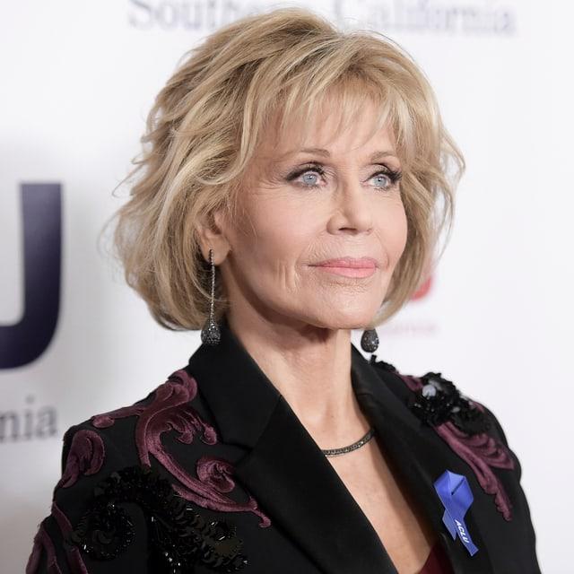 Das Bild zeigt Jane Fonda heute.