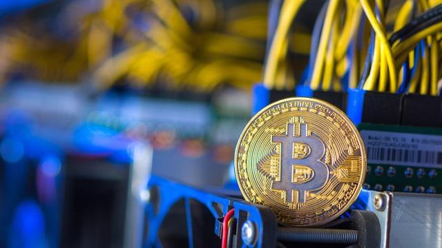 Bild einer Bitcoin Münze