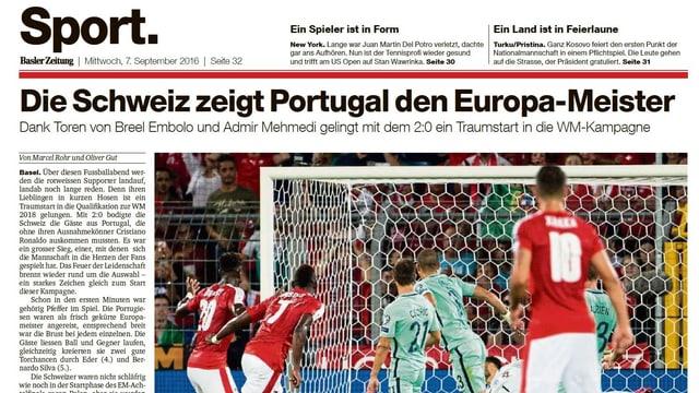 Die Basler Zeitung.