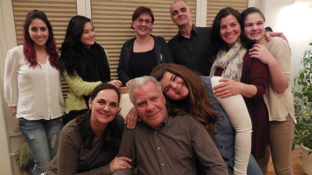 Tiziana mit ihrer Familie