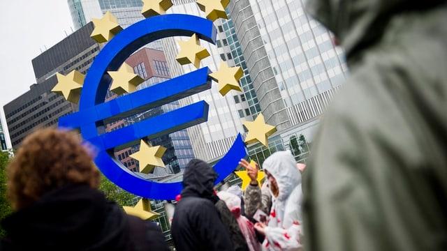 Sitz der Europäischen Zentralbank in Frankfurt.